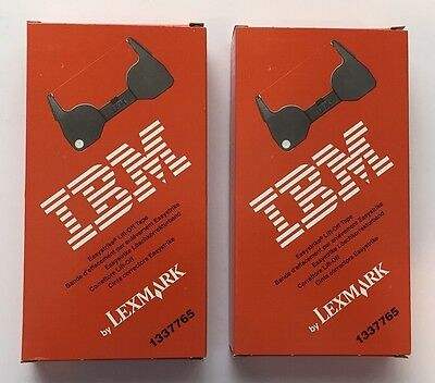IBM Lexmark 1337765 TWO Easystrike Lift Off Tape UNUSED