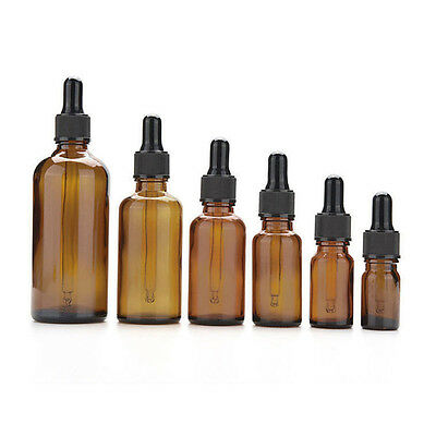 Simple Amber Glass Liquid Reagent Pipette Bottle Eye Dropper Aromatherapy TR45