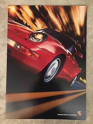 """1995 Porsche 911 Coupe """"No substitute."""" Showroom Advertising Sales Poster RARE!!"""