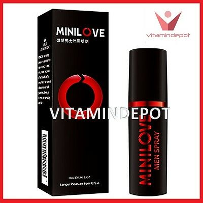 Minilove Natural Premature Ejaculation Delay Spray Prolong Sex and Pleasure 10mL