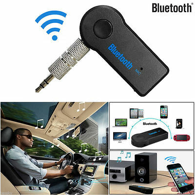 Wireless Bluetooth 3.5mm AUX Audio Stereo Music Home Car Receiver Adapter Mic UK