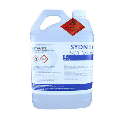 Methanol Fuel Technical Grade High Purity 5 Litre