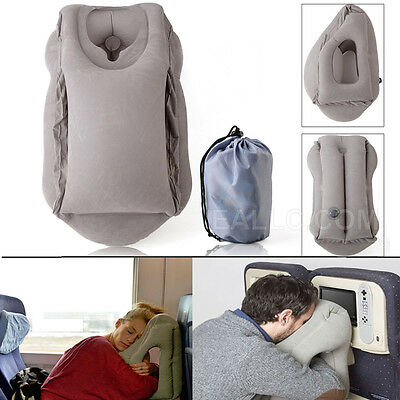 Inflatable Pillow Neck Flight Rest Air Cushion Support Travel Nap Sleep Head