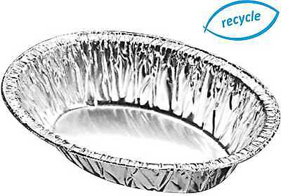 Oval Pie Foil Pie Dishes 30mm Deep Individual Aluminium Containers Oval Dish