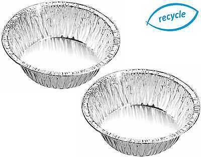 "4¼"" Small Aluminium Foil Dishes Steak Pie Round Quiche 33mm Deep Cases"