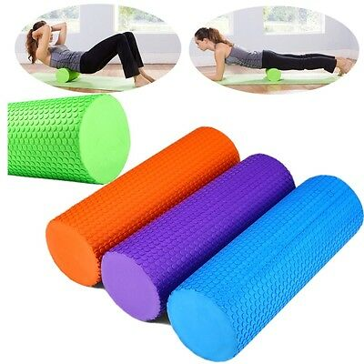 "11.79"" x 3.93"" Foam Roller Yoga Pilates Exercise Trigger Point Physio Massage UK"