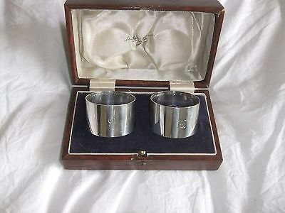 Boxed solid silver napkin rings