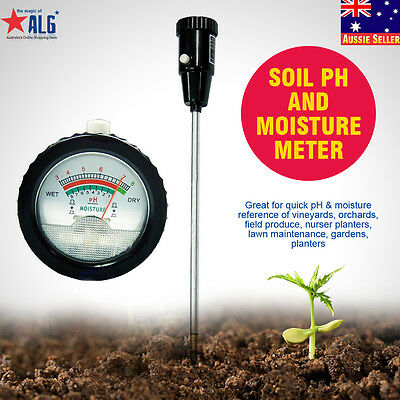 Soil PH Moisture Meter Tester Long Water Quality Plants Hydroponics Analyzer