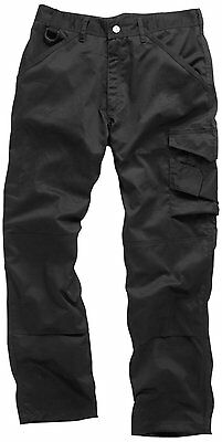 Scruffs Work Trade Trousers Pants Black Men's Multi Knee Pad Pocket Repeltex
