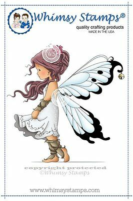 Whimsy Stamps - Cling Mounted Rubber Stamp - Silver Fairy