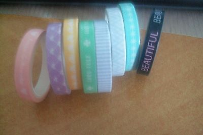 8X Washi Tape   3 Meter X 6 Mm  New New (10-26)