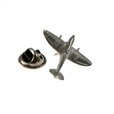English Made Spitfire Fighter Aircraft Pewter Lapel Pin Badge XDTP004