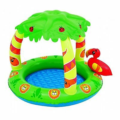 Inflatable Jungle Toddler Swimming Paddling Play Baby Pool Kids With Sunshade UK
