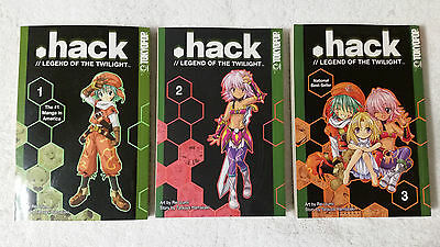 .Hack Legend of the Twilight Vol. 1 2 & 3 Manga Tokyopop