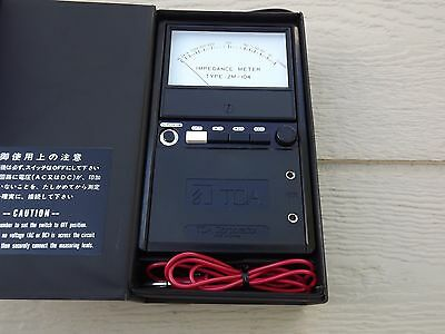 TOA ZM-104 Impedance Meter Made in Japan
