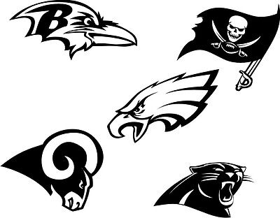 DXF CDR and EPS File For CNC Plasma or Laser Cut - NFL LOGOS. Ready to cut
