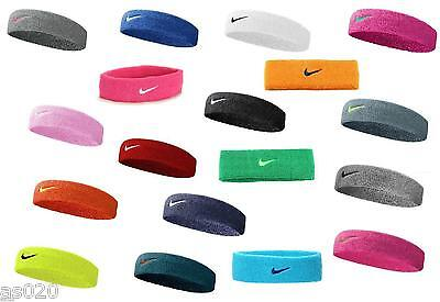 Nike Swoosh Tennis Squash Badminton Sports Gym Headband Head Band - All Colours