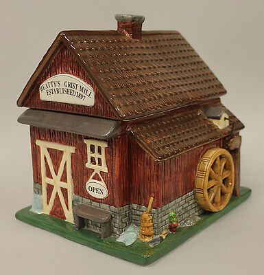 Coca Cola Grist Mill Cookie Jar with Box