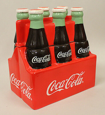 Coca Cola Six Pack Cookie Jar with box, by Gibson