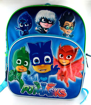 Superhero Pj Masks School Bag Backpack Boycat Gekko Owlette