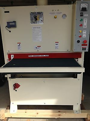 Saftey Speed 3760 widebelt sander 10 HP Single phase