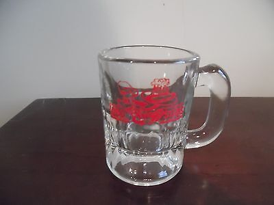 vintage dog and suds mini rootbeer mug advertising red graphics