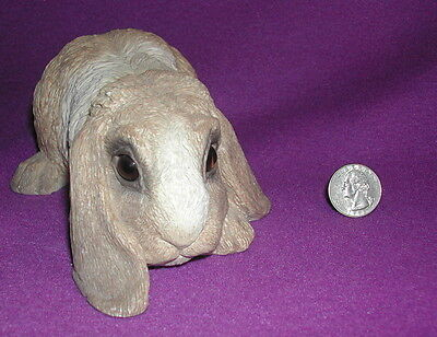 REDUCED.   the Classic Critters Cast Stone Lop Eared BUNNY RABBIT  1984
