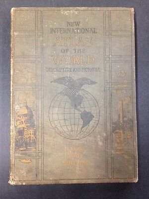 New International Atlas Of The World Discriptive And Pictorial 1919 WWI
