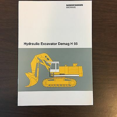 DEMAG H95 Hydraulic Excavator - Mining Shovel Equipment Vintage Brochure 12p
