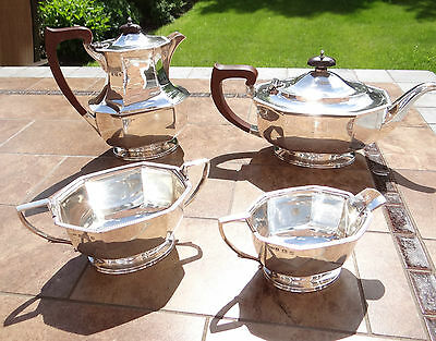 Sterling Silver 4 Piece Tea and Coffee Set by Ollivant and Botsford - 1935