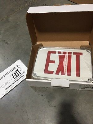 Lithonia Lighting LED Exit Sign Wet Location Red