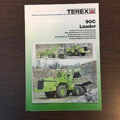 TEREX 90C Front End Loader - Vintage Mining Equipment Brochure Manual Specs 1988