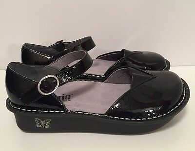 Alegria Mary Jane Clogs MAD 101 Black Patent Leather Eur 38 US 8/8.5 NEW