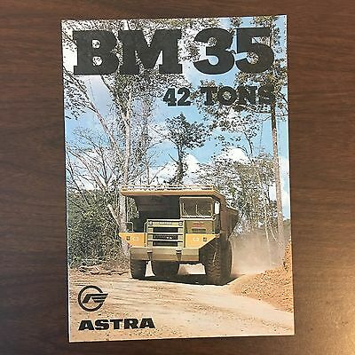 ASTRA BM 35 Truck - Vintage Rear Dump Mining Equipment Brochure Specs 1990