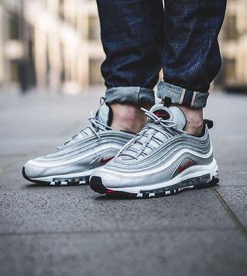 NIKE AIR MAX 97 OG QS ''SILVER BULLET'' UNISEX TRAINERS ALL SIZES- Limited Pairs