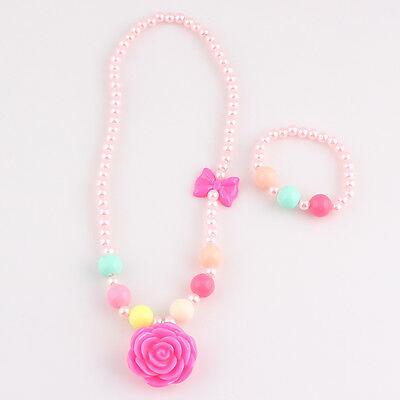 Super Cute Baby Toddler Girls' Necklace and Bracelet Bead Set