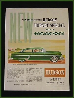 May 22, 1954 Hudson Car Ad ~ Hornet Special Club Sedan