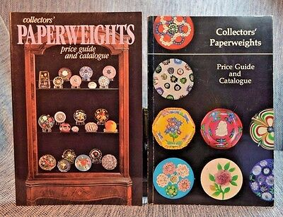 2 Collectors' Paperweights Price Guide & Catalogue With Color photos Paperbacks