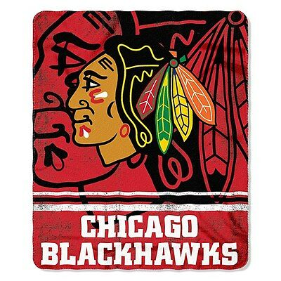 Chicago Blackhawks Fleece Throw Blanket