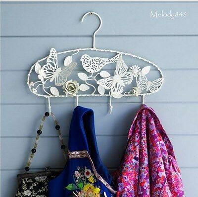 BOMBAY DUCK French Chic Cream Butterfly Bird Coat Hanger Jewellery Hook BNWT