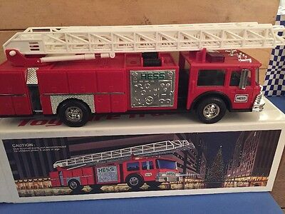 HESS TOY FIRE TRUCK BANK W Inserts Original W Box 1986 FOR SALE