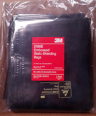 """3M 2100E - 6""""x8"""" Embossed Metal-Out Static Shielding Bag - 100 BAGS"""