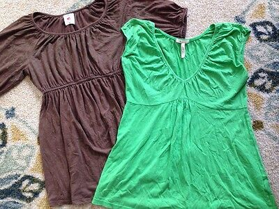 Size Small Maternity Short Sleeve Shirts - Lot Of 2 - Old Navy Casual