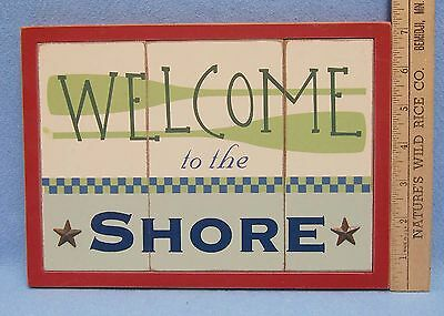 Cabin Decor Wall Hanging Sign Welcome To The Shore Williraye Coynes NEW