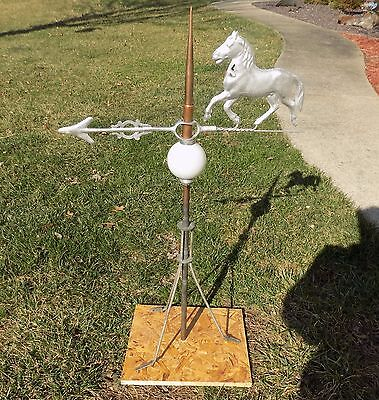 Antique Lightning Rod Copper with Silver Horse and Arrow