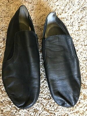 Dance Now Black Slip On Jazz Shoes Youth Sz 13.5