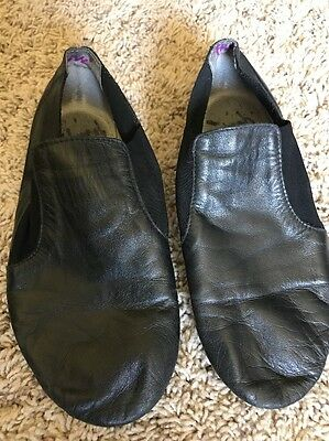 Dance Now Black Slip On Jazz Shoes Women's Size 6 M