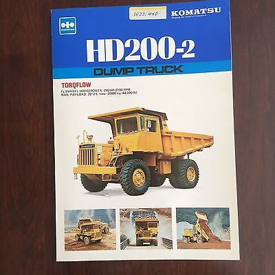 KOMATSU HD200-2 - Vintage Truck Rear Dump Haul Equipment Brochure Specs 1980s