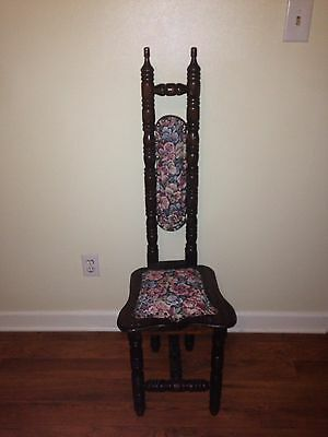 Antique Jacobean High Back THRONE Chair Carved gothic Medieval