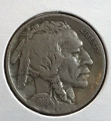 1919 Buffalo Nickel. Nice Collector Coin For Your Set Or Collection. Free Ship.